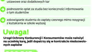 Kary dla uczelni za złe umowy ze studentami