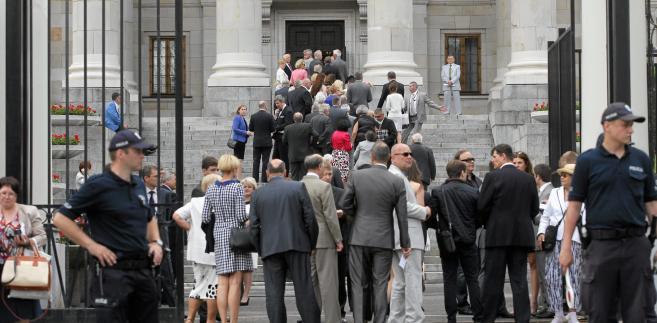 Goście bankietu w ambasadzie Rosji