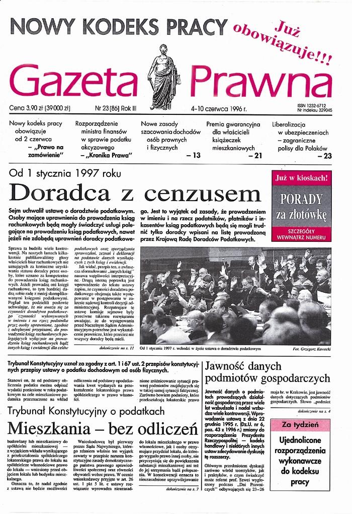 Okładka Dziennika Gazety Prawnej