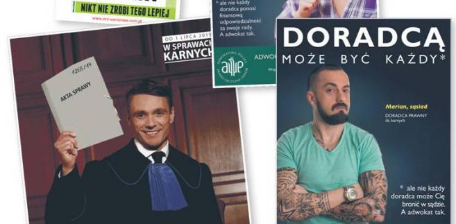 Plakaty i memy rozpowszechniane w ramach kampanii, które prowadzą Izba Adwokacka w Warszawie i stołeczna OIRP