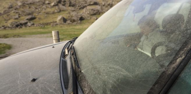 samochód, Islandia, pył
