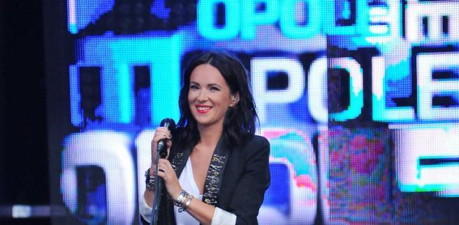 Kasia Kowalska w Opolu w 2011 roku.