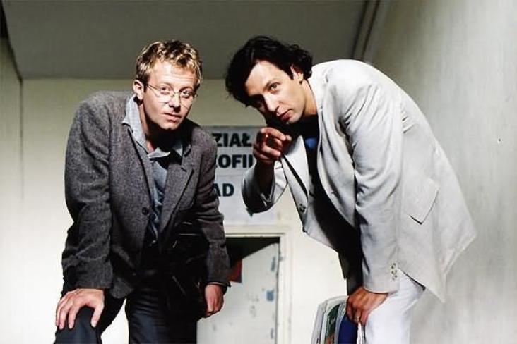 """Olaf Lubaszenko i Szymon Majewski w filmie """"E=mc2"""" (2002)"""