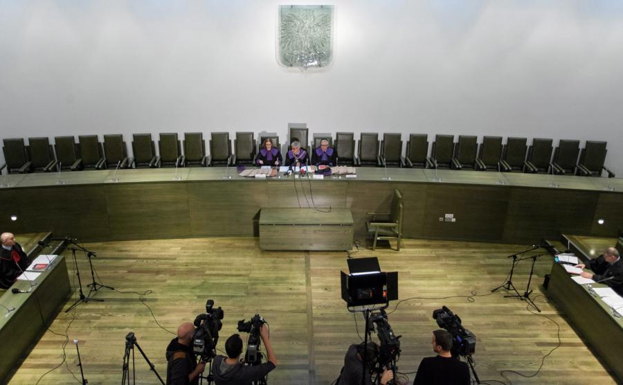 Sala rozpraw Sądu Najwyższego