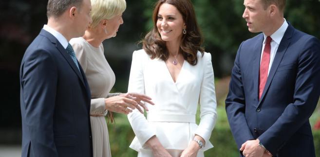 Spotkanie z polską parą prezydencką było pierwszym punktem trzydniowej wizyty pary książęcej w Polsce