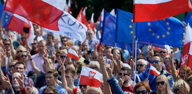Gdańsk - niedawny protestu przeciwko ustawie o Sądzie Najwyższym.