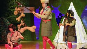 Indianie w warszawskim Nowym Teatrze, fot. Grzegorz Press