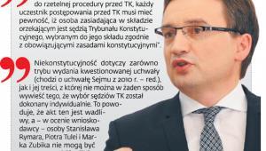 Dlaczego zdaniem Zbigniewa Ziobry tak ważne jest, aby TK rozwiał obawy co do statusu trzech sędziów TK wybranych w 2010 r.