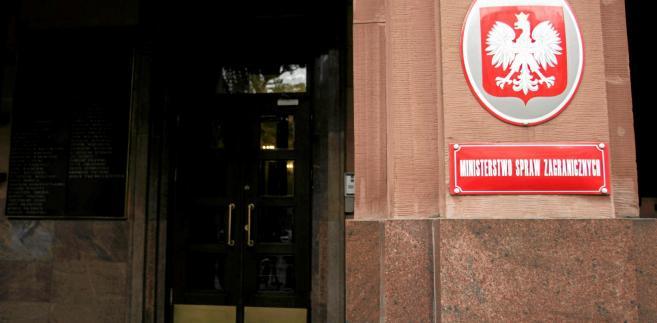 Wejście do gmachu ministerstwa spraw zagranicznych
