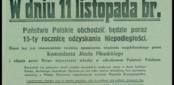11 listopada, Święto Niepodległości