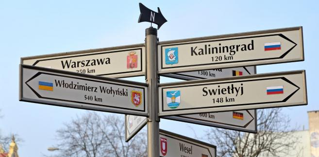 Drogowskazy. Warszawa, Kaliningrad