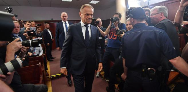 Donald Tusk przed warszawskim sądem