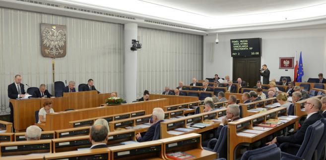 Wystąpienie wiceszefa Kancelarii Prezydenta Pawłą Muchy podczas obrad Senatu.