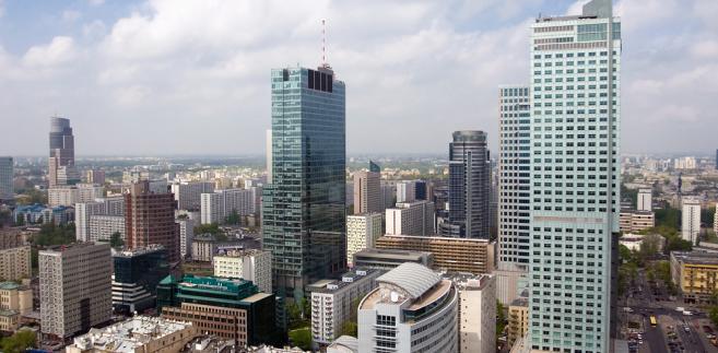 Widok na panoramę Warszawy