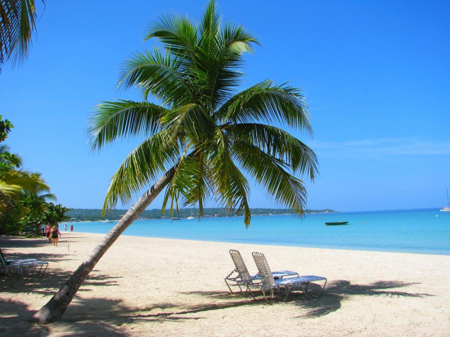 """Negril - ośrodek turystyczny położony na zachodnim wybrzeżu Jamajki.  Na północnej plaży znajdują się luskusowe hotele, natomiast południowej części miasteczka znajdują się małe pensjonaty prowadzone przez mieszkańców. Na południe od centrum miejscowości znajdują się klify. Najwyższy z nich """"Rick's Cafe"""" ma 40m wysokości."""