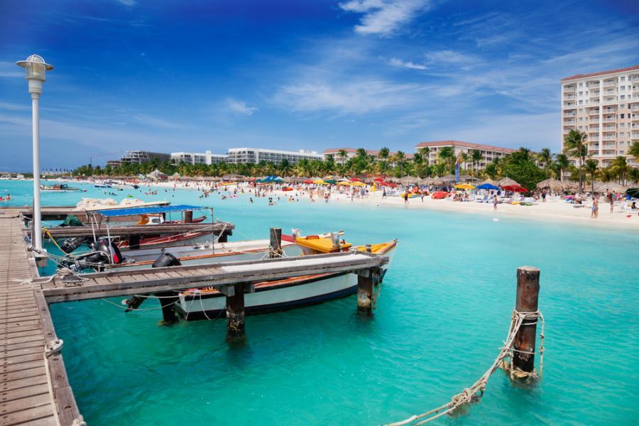 Palm Beach/Eagle Beach - popularna miejscowośc turystyczna na Arubie.
