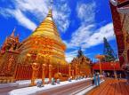 """6. miejsce: Chiang Mai – czyli """"północna stolica"""" Tajlandii. Miasto jest bardzo ważnym elementem podróży do Tajlandii, ponieważ w jego obrębie znajduje się wiele starożytnych świątyń, których nie można przeoczyć podczas zwiedzania Tajlandii. Dzienny pobyt w Chiang Mai można zamknąć w kwocie 19.55 USD."""