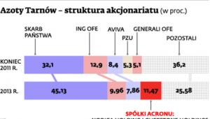 Azoty Tarnów – struktura akcjonariatu (w proc.)