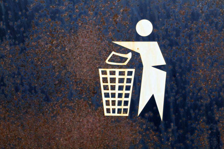 śmieci, znak