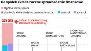 Ile spółek składa roczne sprawozdanie finansowe