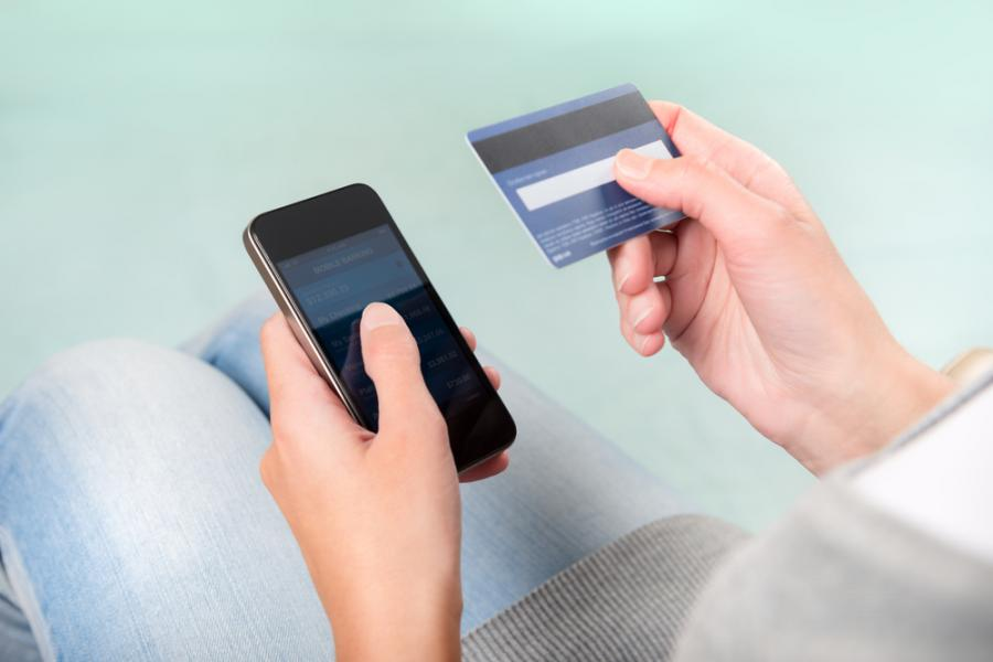 mobilne, telefon, karta płatnicza