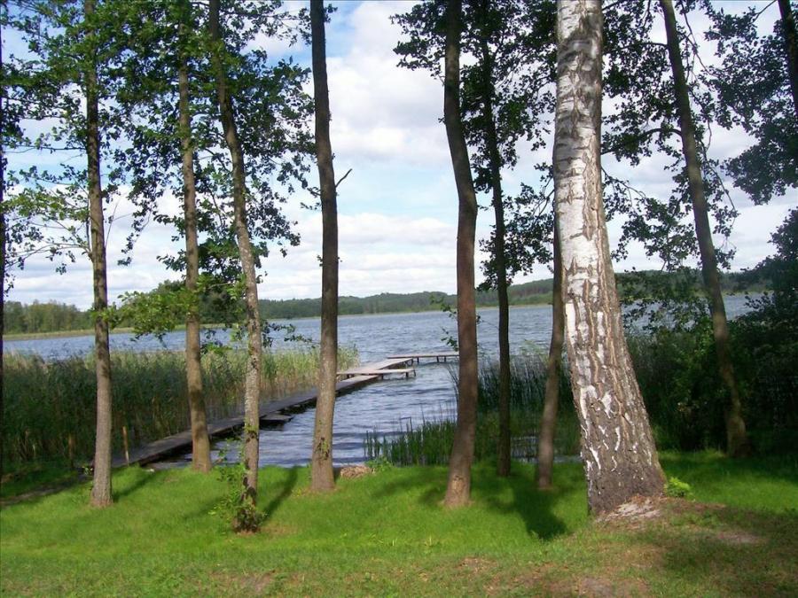Działka, jezioro