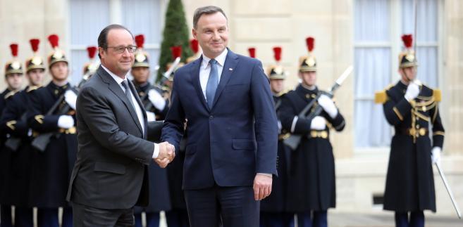 Duda i Hollande spotkanie