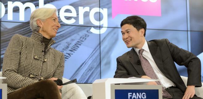 Christine Lagarde podczas Forum Ekonomicznego w Davos