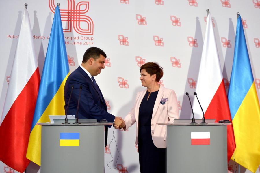 Premier Beata Szydło i premier Ukrainy Wołodymyr Hrojsman
