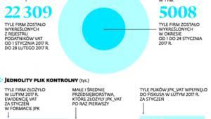 Wykreślenia z rejestru podatników VAT i JPK w liczbach