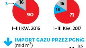 Importujemy mniej gazu z Rosji