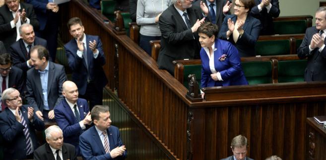Beata Szydło po zakończeniu przemówienia