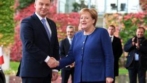Prezydent RP Andrzej Duda i kanclerz Niemiec Angela Merkel w Berlinie.