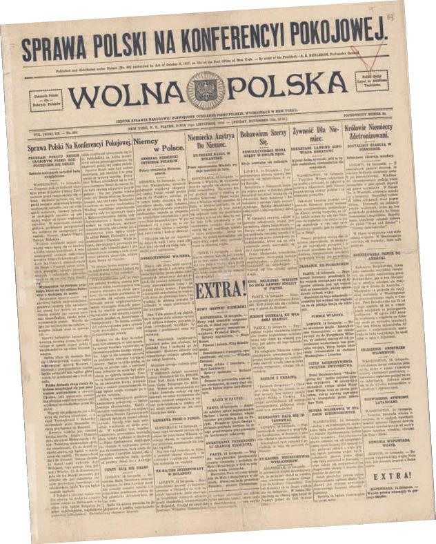 """Ukazujące się w USA pismo """"Wolna Polska"""""""