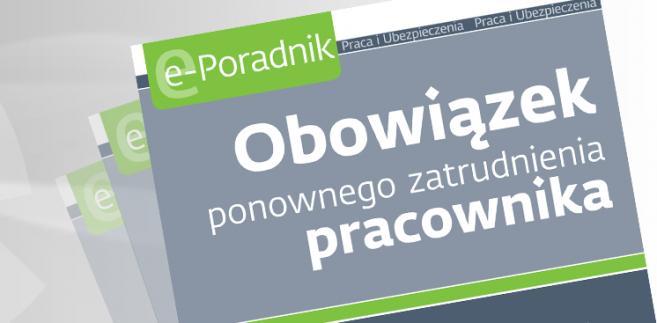 e-book: Obowiązek ponownego zatrudnienia pracownika