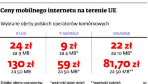 Ceny mobilnego internetu na terenie UE