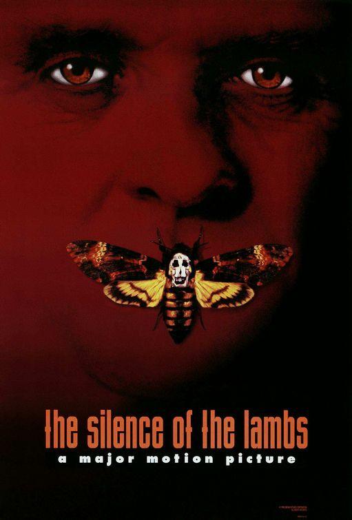 """Plakat  z filmu """"Milczenie owiec"""""""