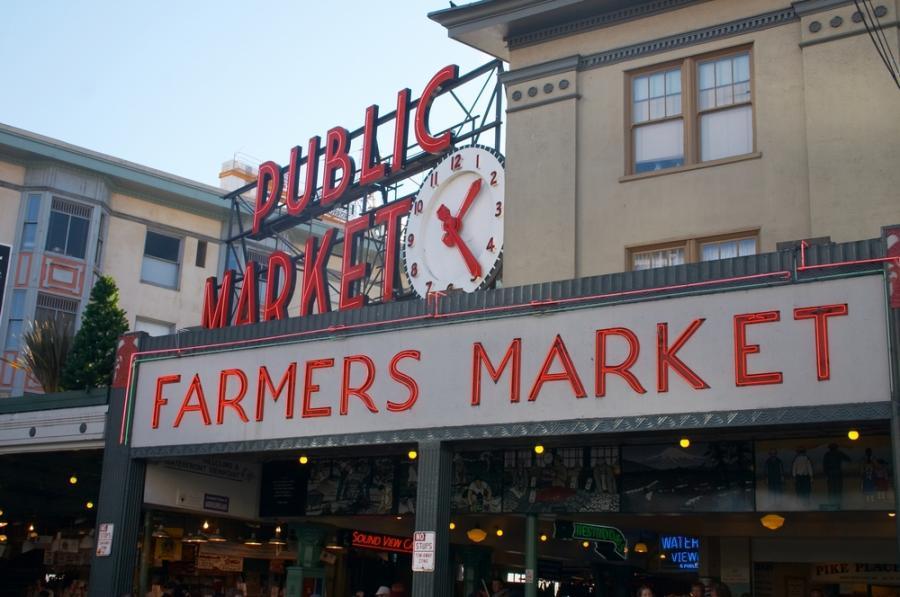 Pike Place Market w Seattle